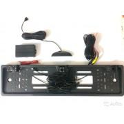 Камера в рамке номерного знака Е-319 + сенсоры парковки