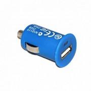 17072 Адаптер автомобильный-АЗУ-USB for Apple iPhone 4/4s 1000 mA (blue)
