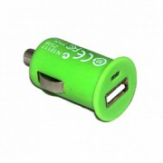 17073 Адаптер автомобильный-АЗУ-USB for Apple iPhone 4/4s 1000 mA (green)