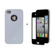 19371 Кейс пластик-Moshi Soft Touch для Apple iPhone 4/4s blue