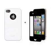 19374 Кейс пластик-Moshi Soft Touch для Apple iPhone 4/4s white