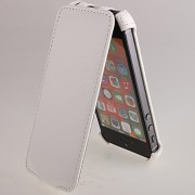 24767 Чехол Flip Activ Leather для Apple iPhone 5 white