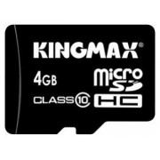 microSDНС 4Gb сlass10 + 1 adapter  Kingmax